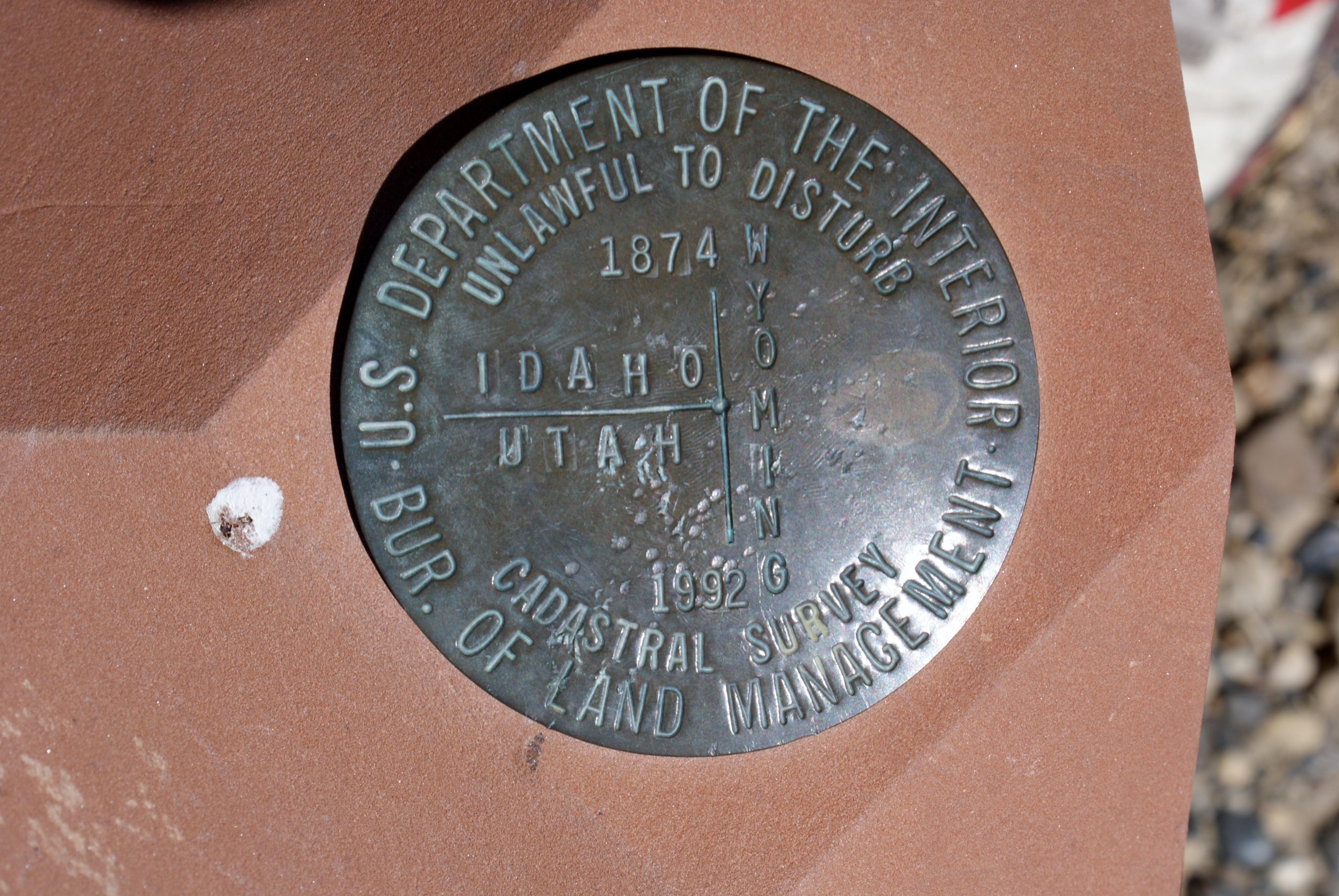 Utah-Wyoming-Idaho-Marker - MTNMAD!!!